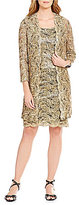 R & M Richards Metallic Lace 2-Piece Jacket Dress
