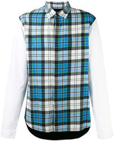 J.W.Anderson panelled checked shirt - men - Cotton/Polyamide/Polyurethane/Viscose - 46