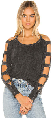Chaser Strappy Cutout Long Sleeve Tee