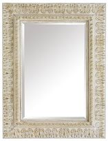 Pier 1 Imports Ivory Embossed Wood 38x50 Mirror