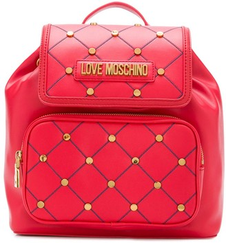Love Moschino Quilted Stud Backpack