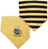 Nursery Time Unisex Baby Cotton Bees Knees Bandana Bibs (Pack Of 2)