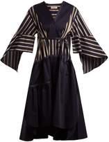 Palmer Harding PALMER/HARDING Contrast-panel cotton dress