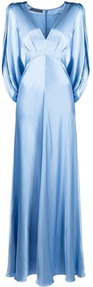 Alberta Ferretti Cut-Out Silk Maxi Dress