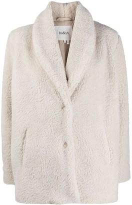 BA&SH Faux Fur Long-Sleeved Coat