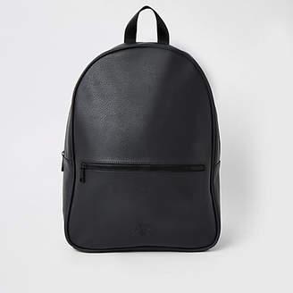 River Island Black RI backpack