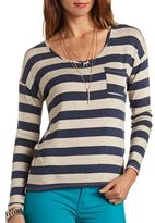 Charlotte Russe Striped Hacci Top