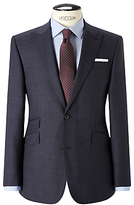 John Lewis Melange Super 100s Wool Tailored Suit Jacket, Blue