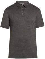 John Varvatos Short-sleeved Silk And Cotton-blend Polo Shirt