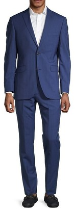Saks Fifth Avenue Pinstriped Wool Suit