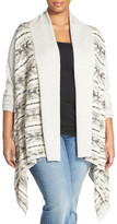 Lucky Brand Fair Isle Drape Front Cardigan (Plus Size)