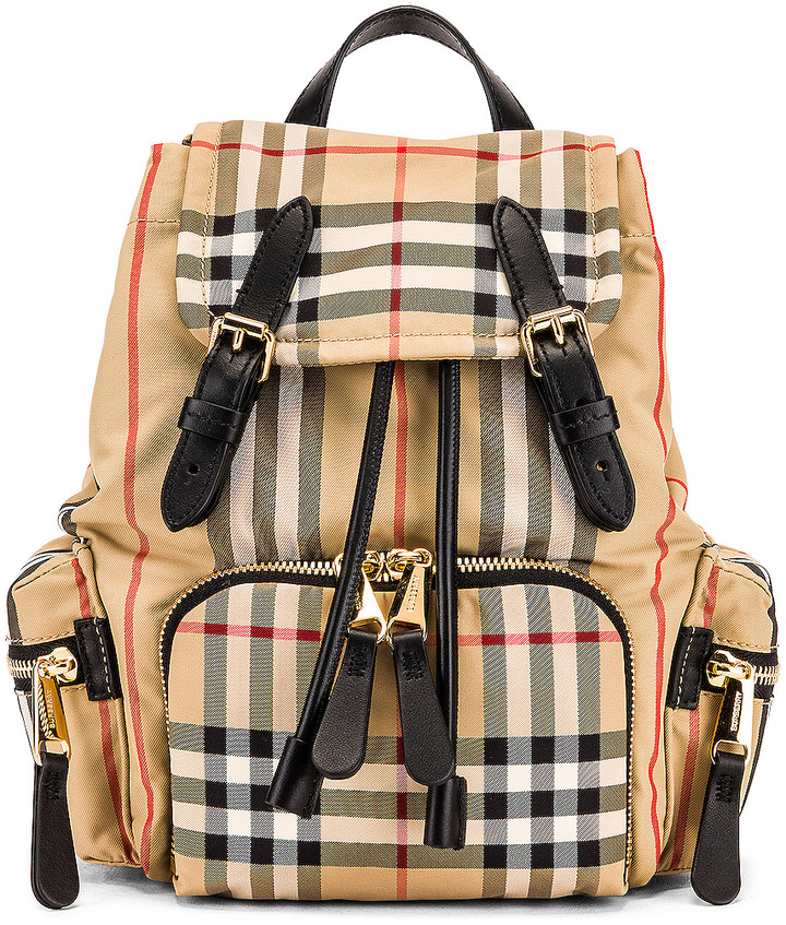 Burberry Small Stripe Backpack in Archive Beige | FWRD