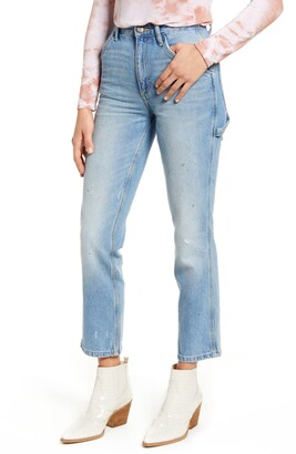 Lee High Waist Dungaree Ankle Jeans