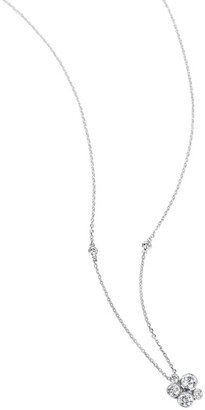 Boodles Platinum and Diamond Raindance Cluster Pendant
