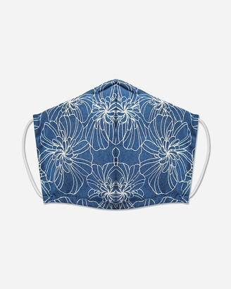 Express Pocket Square Clothing Floral Chambray Unity Face Covering