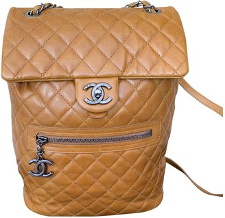 Chanel Timeless/Classique Camel Leather Backpacks