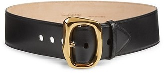 Alexander McQueen Molten Metal Buckle Leather Belt