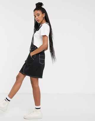 Dickies overall dress with contrast stitching