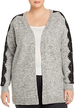 Vero Moda Curve Vera Moda Lace-Sleeve Open Cardigan Sweater