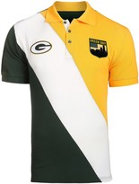 Unbranded Men's Green/Gold Green Bay Packers Diagonal Stripe Rugby Polo