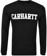 Carhartt Long Sleeved College T Shirt Black