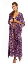 Looking Glam Ladies Full Length Kimono Cover Up Maxi Kaftan - Free