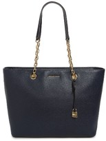 MICHAEL Michael Kors Medium Mercer Leather Tote - Blue