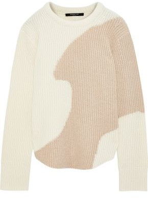 Derek Lam Two-tone Ribbed Cashmere Sweater