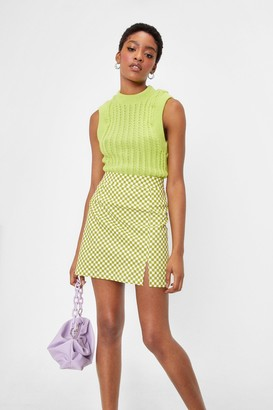 Nasty Gal Womens How the Cables Turn Knit Tank Top - Lime