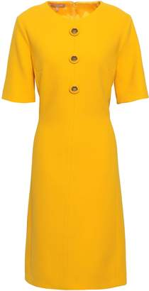 Michael Kors Button-embellished Wool-blend Crepe Dress