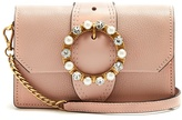 Miu Miu Crystal-embellished leather cross-body bag