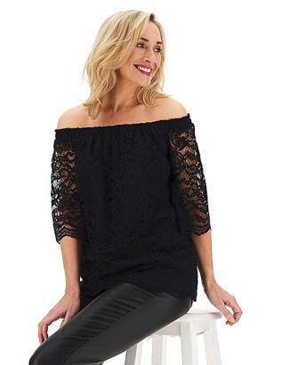 Bardot Capsule Black All Over Lace 3/4 Sleeve