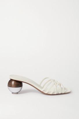 Neous Calpa Leather Mules - Cream
