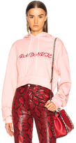 Rodarte Radarte LA Embroidery Cropped Hoodie in Pink.