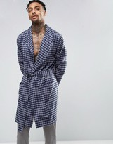 Asos Woven Checked Dressing Gown