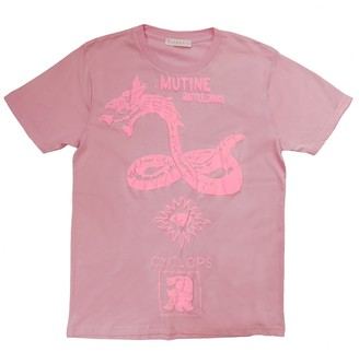 Klements Mutine Rattlesnake T-Shirt - Pink & Pink Puff Print