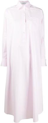 Lanvin Oversized Silk Shirt Dress