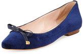 Kate Spade Emma Too Velvet Ballerina Flat, Blue