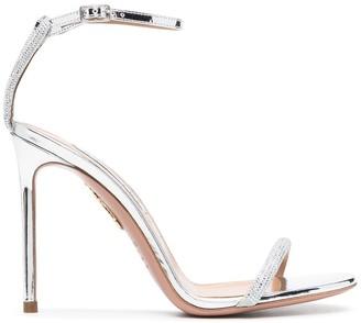 Aquazzura Metallic-Effect High-Heel Sandals