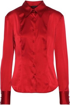 Kiki de Montparnasse Stretch-silk Satin Shirt
