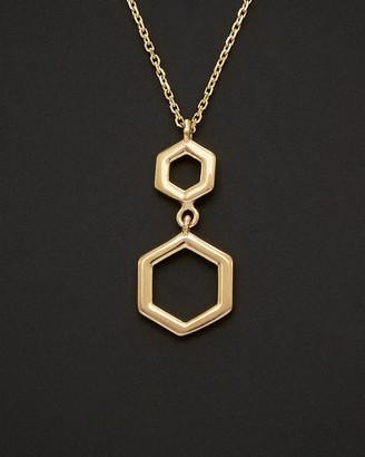 Italian Gold 14K Geometric Pendant Necklace