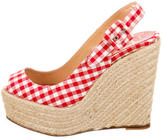 Christian Louboutin Espadrille Slingback Wedges