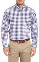 Cutter & Buck Men's Big & Tall Hacienda Regular Fit Check Sport Shirt