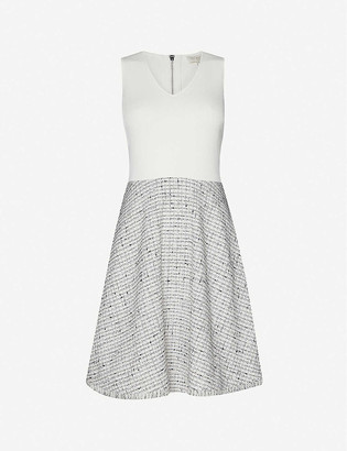 Ted Baker Sleeveless knitted and tweed mini dress