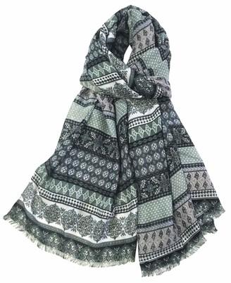 World Of Shawls Vintage Bohemian Inspired Boho Style Long Fashion Scarf Scarves Wrap Shawl for Women Ladies (Pistachio/Mint)