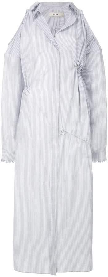 Damir Doma cold shoulder striped dress