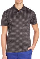 J. Lindeberg Golf Bespoken Dotted Jersey Polo