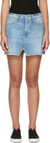 Frame Blue Denim Le Mini Split Front Skirt
