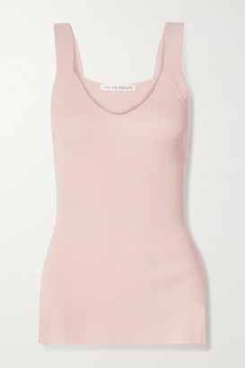 Live The Process Ribbed-knit Tank - Pink