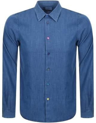 Paul Smith Long Sleeved Denim Shirt Blue